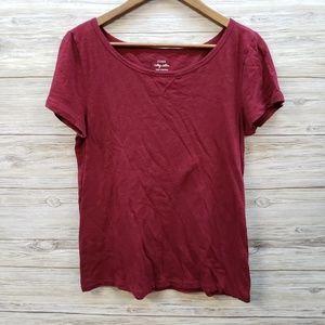 J Crew Vintage Short Sleeve Wine Shirt